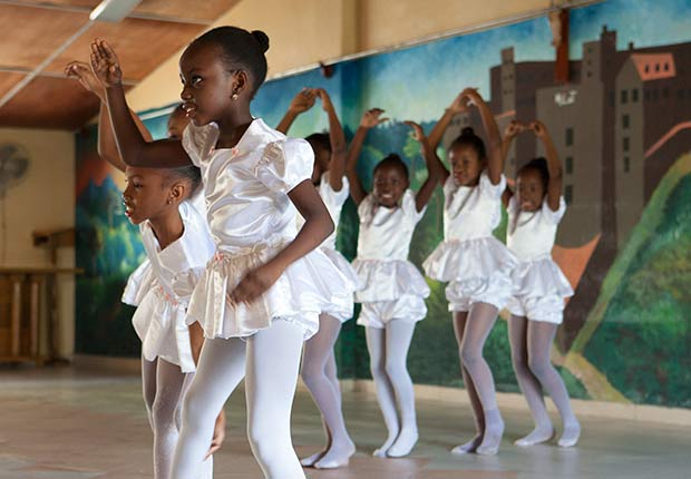 Once a week at the St. Vincent de Paul nursing home in Leogane children put on a show for the elderly.