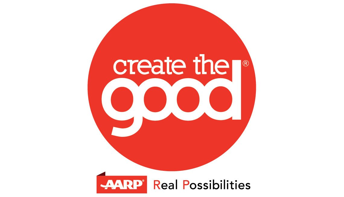 Create The Good with Real Possibilities Logo, Giving Back via Create the Good Program