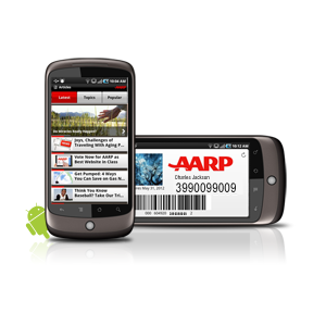 AARP App on Nexus One Android phone