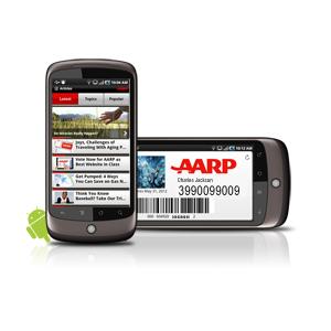 AARP App on Nexus One Android phone