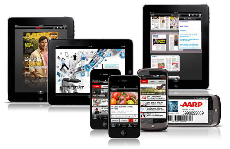AARP Mobile applications on iPhone, iPad and Android