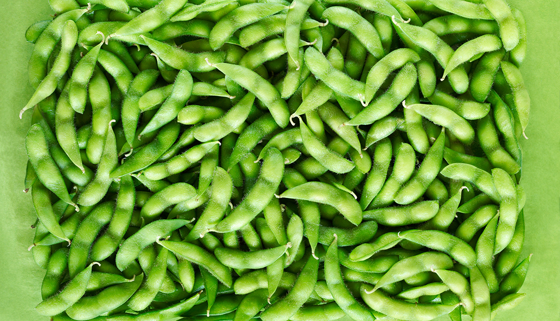 Bunch Of Edamame On Plate, Foods That Help Alleviate Pain