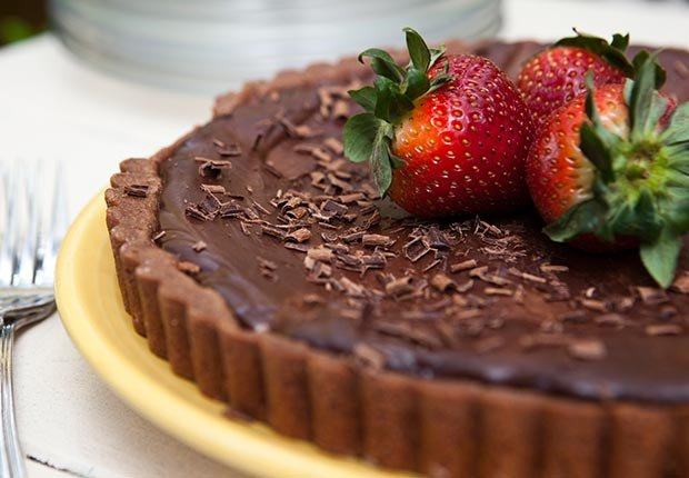 Thinkfood think food brain fitness health blogger recipes dark chocolate covered strawberry tart (Jason Whalen/Agency Charlie)
