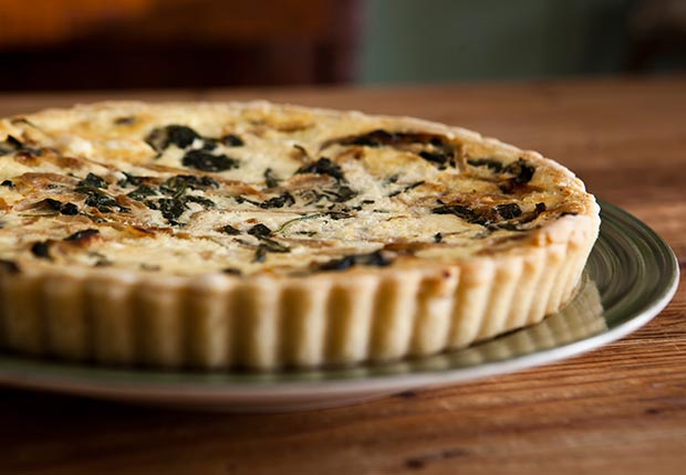 Thinkfood think food brain fitness health blogger recipes spinach caramelized onion tart (Jason Whalen/Agency Charlie)