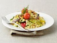 Couscus con verduras, dieta mediterránea - Alimentos para mejorar la memoria y salud cerebral