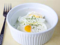 Eggs Baked in Cream, Think Food Recipes for Brain Fitness