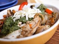 Chicken and Pecan Enchiladas, Think Food Recipes for Brain Fitness