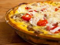 Asparagus, Mushroom & Ham Quiche with a Potato Crust, Think Food Recipes for Brain Fitness