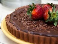 Dark Chocolate Covered Strawberry Tart, Think Food Recipes for Brain Fitness