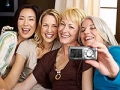Women taking a picture of themselves, Socializing for Brain Health