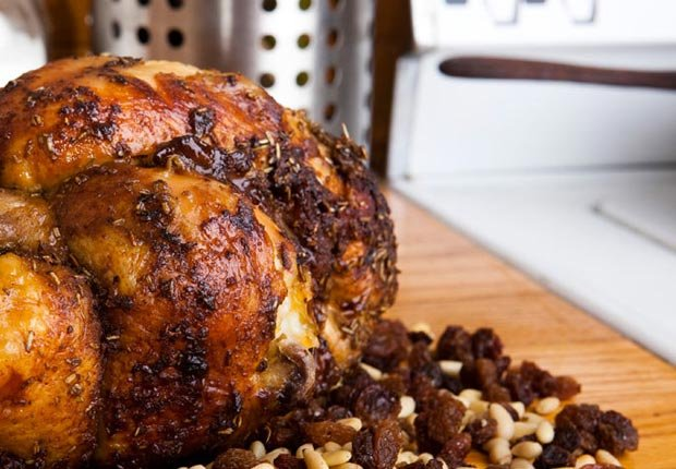 Slow Roast Stuffed Chicken, Think Food Recipes for Brain Fitness (Jason Whalen)