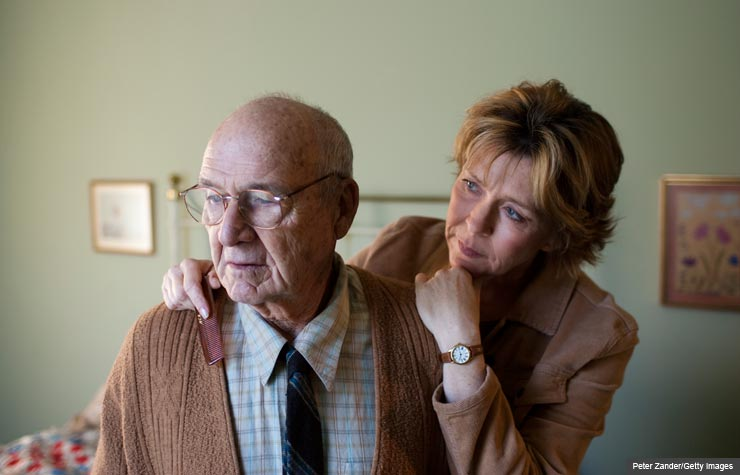 Veteran caregivers are resource for new families caring for loved ones with Alzheimer's. (Peter Zander/Getty Images)