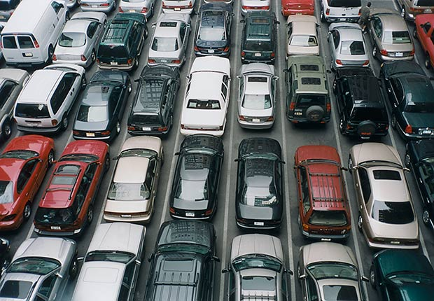 Cars in a full parking lot, Remember where you parked the car