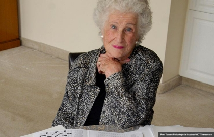 crossword puzzle creator bernice gordon nytimes nyt new york times crosswords creator creates 100 years old (Ron Tarver/Philadelphia Inquirer/MCT/Newscom)