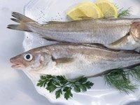 Pescado crudo en un plato - Comer pescado al horno o a la parrilla (no frito) semanalmente, puede mejorar la salud cerebral y reducir el riesgo de desarrollar deterioro cognitivo leve y enfermedad de Alzheimer