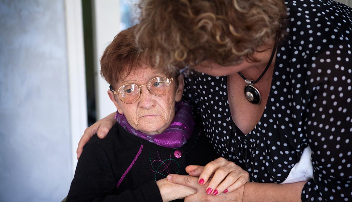 Why No War on Alzheimer's?, Women Caregiver Hands, comfort fear