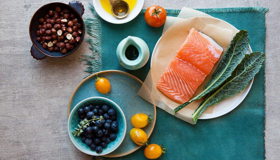 Pescado y otros alimentos saludables