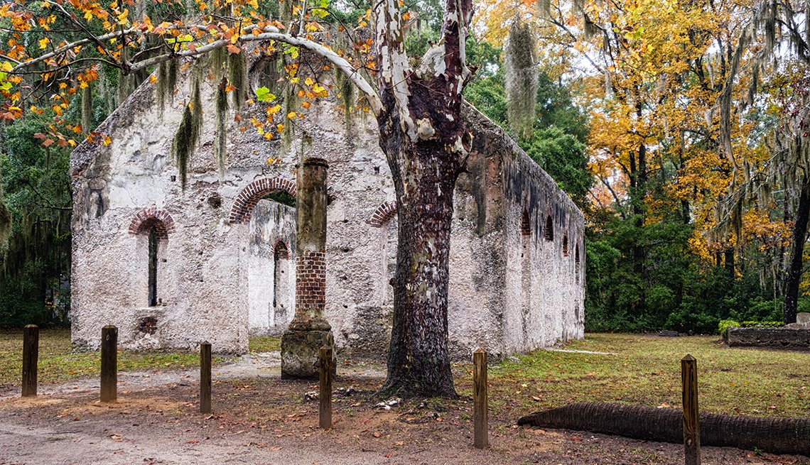 Chapel of Ease Ruins on St. Helena Island, South Carolina