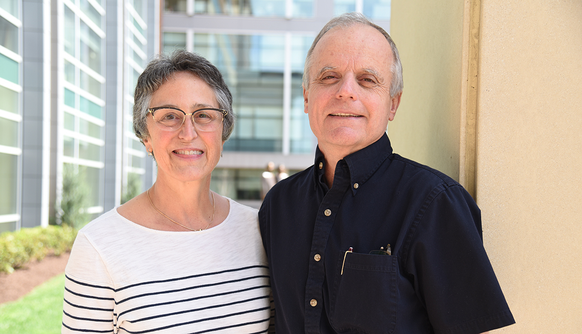 Judi Polak with her husband, Mark, chief of neonatology in the School of Medicine at West Virginia University