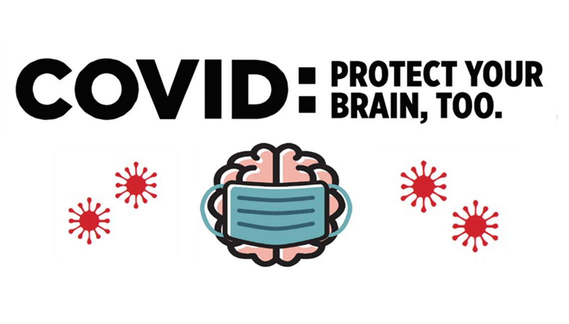 covid-19: protect your brain, too infographic thumbnail