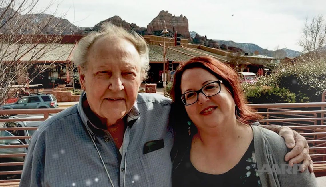 AARP South Dakota Executive Council Member Karla Abbott with her  father