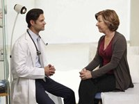 Doctor and female patient, heart disease more lethal in women