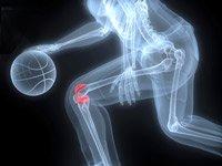 Illustración de un hombre jugando basketball