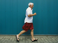 man walking-exercise improves mobility for those with Parkinsons