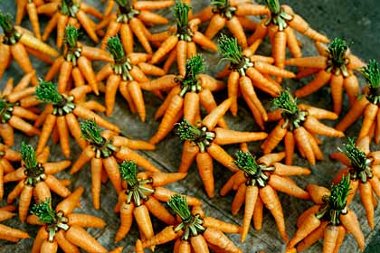 Crunchy veggies like carrots help clean teeth.