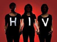 HIV/AIDS and Older Hispanics. Three Hispanic women wearing black shirts that read HIV