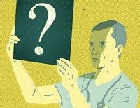 Ilustración de un médico viendo una radiografía - Enfermedades difíciles de diagnosticar