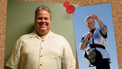 La cirugía bariátrica para perder peso. Imágenes de antes y después de Bill Kelly.
