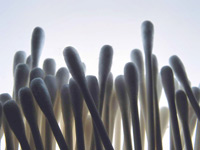 A group of cotton swabs. Over-the-counter genetic tests may not be accurate.