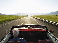 Conducción, superior, visión, la cirugía de cataratas - conducción segura
