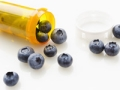 Blueberries in a prescription bottle, food and drug reactions quiz