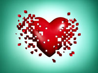 Un corazón sobre un fondo verde -Tecnologia que puede salvar corazones