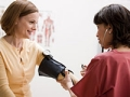 Nurse takes blood pressure, High blood pressure health quiz