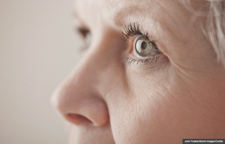 Close up of a woman's eye, Is There an Aspirin-Eye Disease Link?