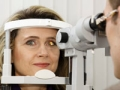 woman eye exam, eue quiz (Istockphoto)