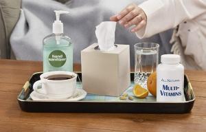 Bandeja con remedios para el resfrío - Cómo combatir el resfrío - Prevenir el catarro