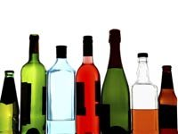 Botellas de alcohol - Consumo excesivo de alcohol (borrachera) en adultos mayores e hispanos