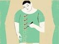 Gráfico de un hombre haciendo unas marcas en unas casillas - Cómo prepararse para una cirugía