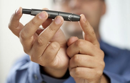 Pluma para hacer la prueba de diabetes