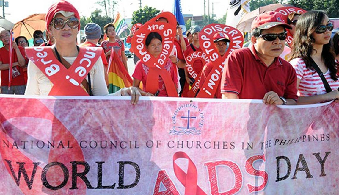 AIDS activists, World AIDS Day, Manila, HIV/AIDS, Plagues and Epidemics Through the Ages,