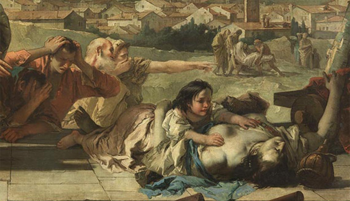 Giambattista Tiepolo, 1758, painting, The Black Death, Plagues and Epidemics Through the Ages,