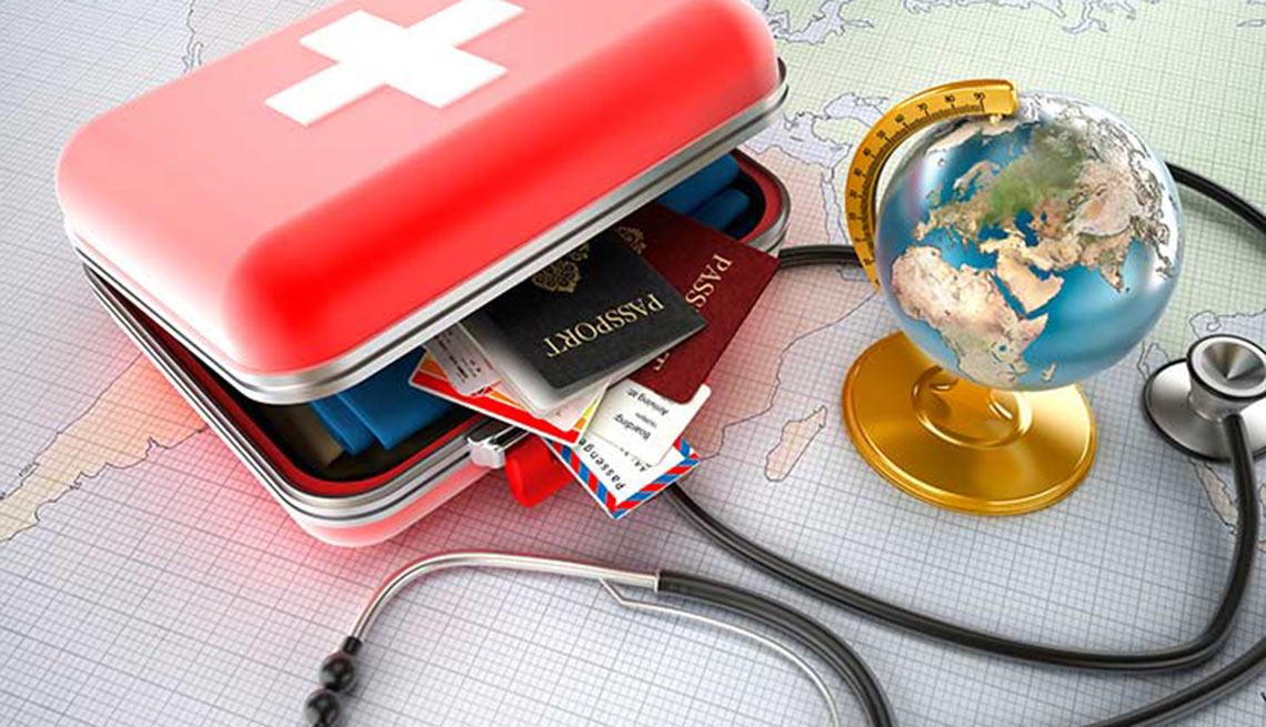 Mapa y maleta - Turismo médico