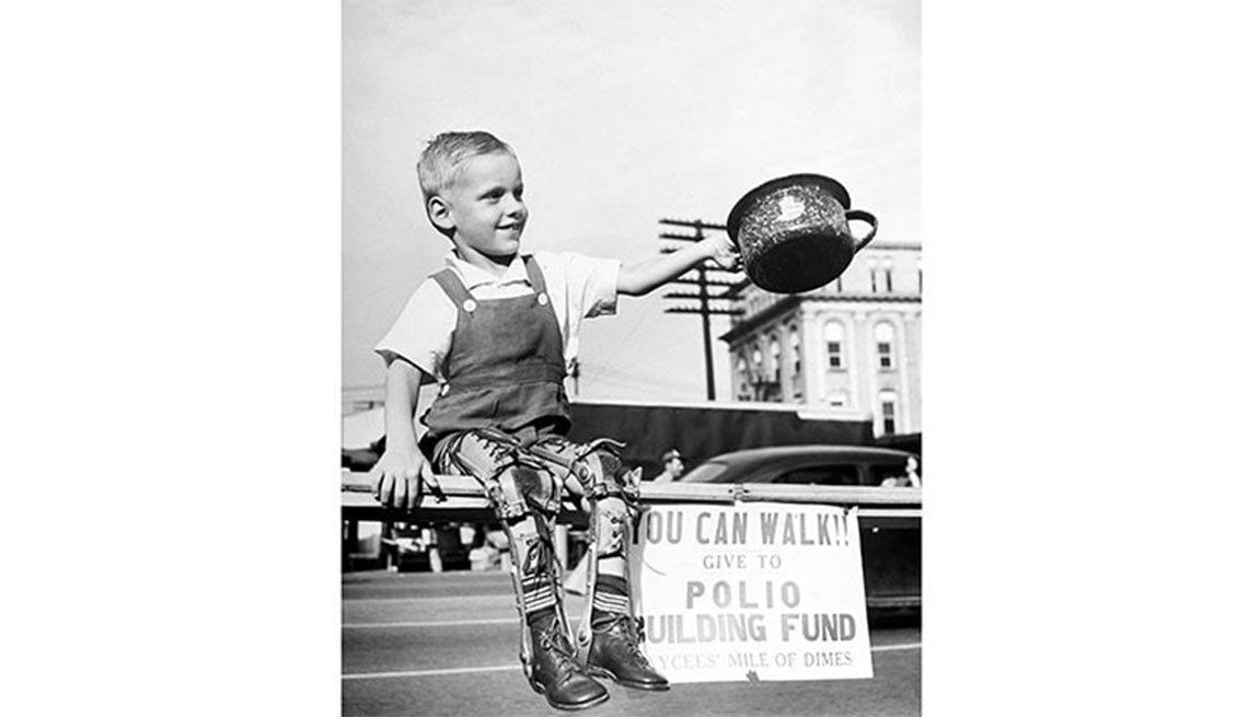 David Henseley, crippled, leg braces, Polio, Plagues and Epidemics Through the Ages,
