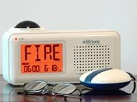 Cool Household Hearing Devices Impaired Lifetone Fire Smoke Alarm Clock Bed Shaker