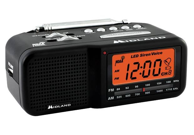 Cool Household Hearing Devices Impaired Weather Alert Clock Radio  ESP