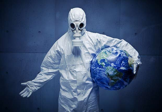Epidemics 21 Century Hazmat Suit Globe World Health Epidemic ESP